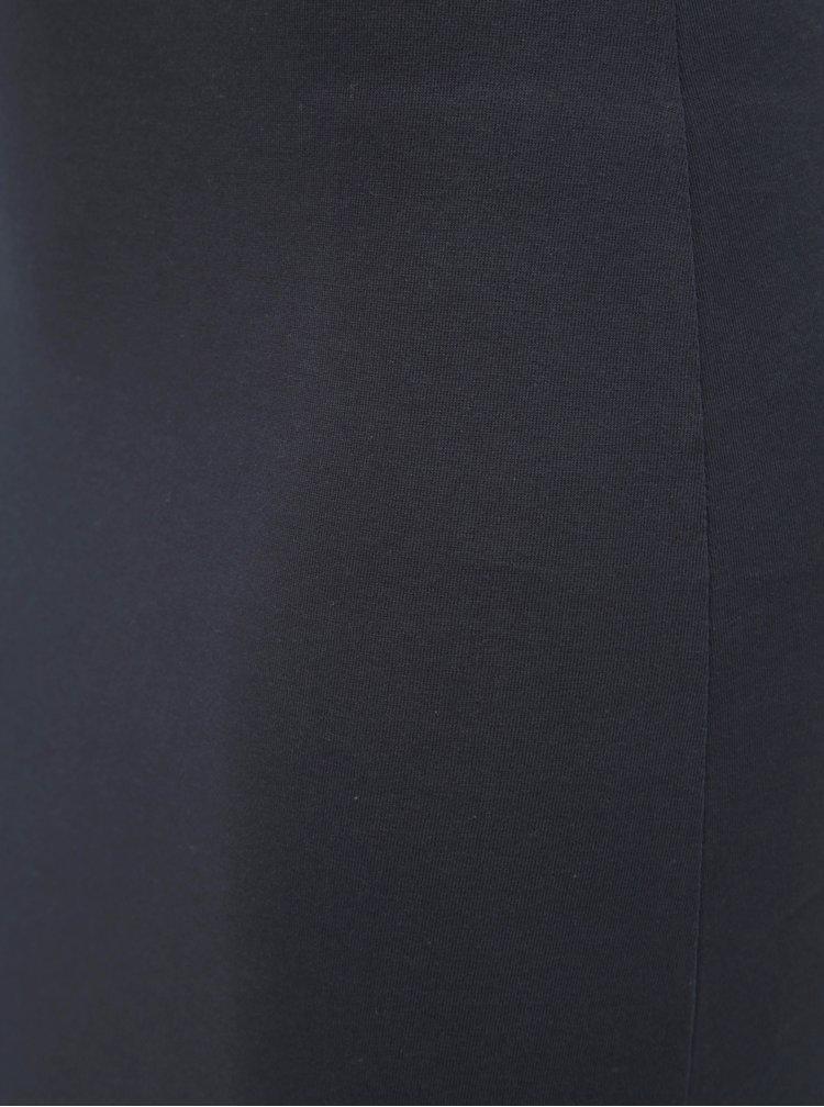 Tmavě modré basic maxišaty s rozparkem ONLY July