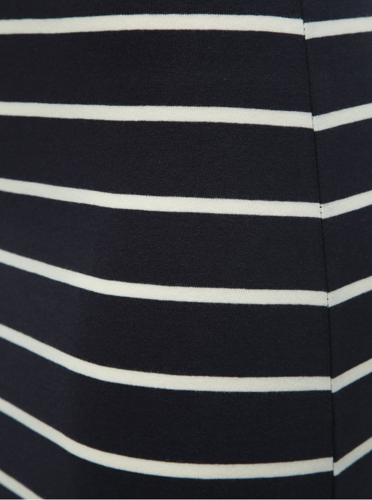 Tmavě modré pruhované basic maxišaty s rozparkem ONLY July