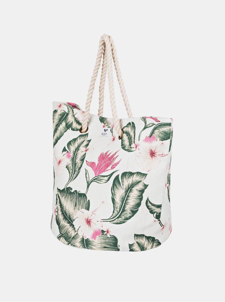Geanta de plaja crem florala Roxy Sunseeker