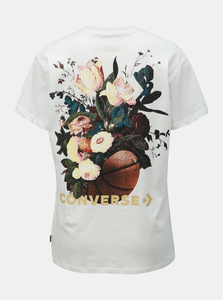 Tricou alb de dama cu imprimeu Converse