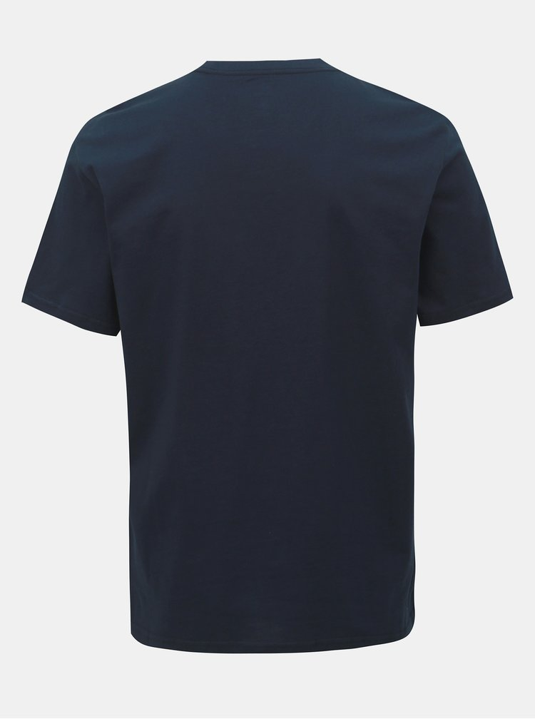 Tricou barbatesc albastru inchis cu imprimeu Converse