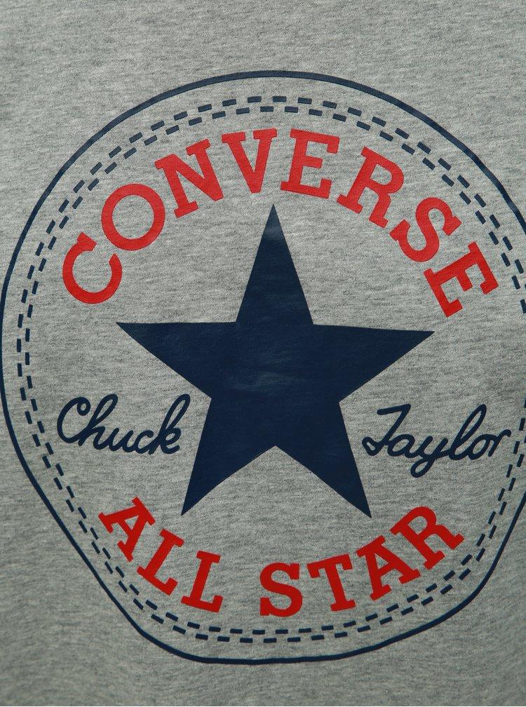 Šedé pánské tričko s potiskem Converse
