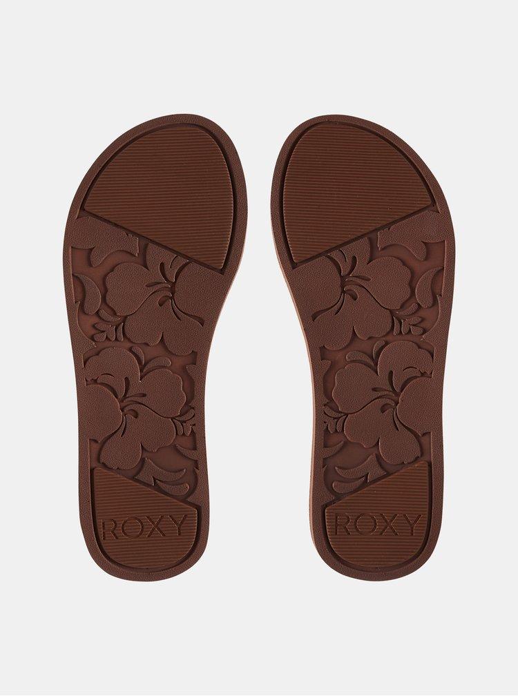 Tmavě modré kožené sandály Roxy Shawna