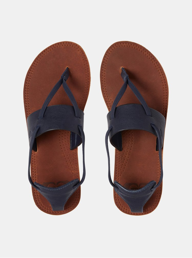 Sandale albastru inchis din piele Roxy Shawna
