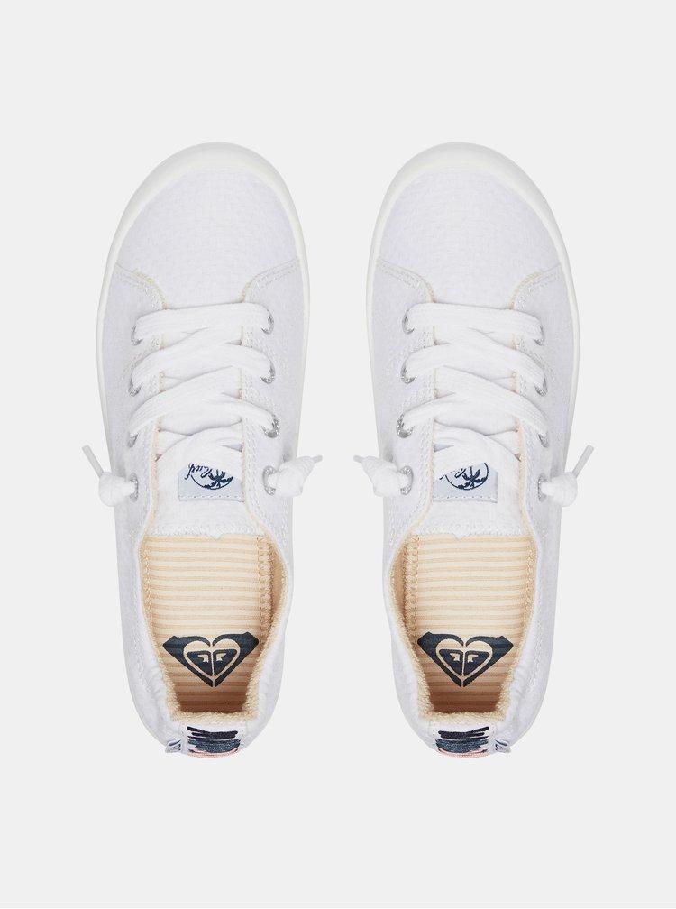 Biele tenisky s výšivkou Roxy Bayshore