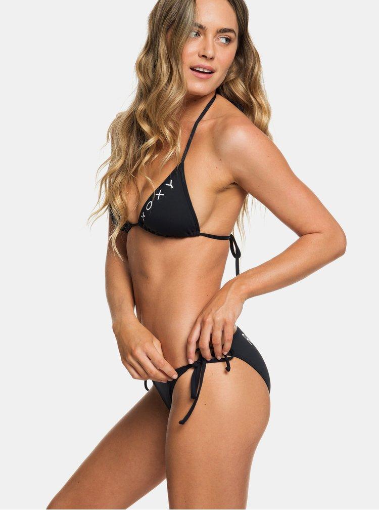 Čierne dvojdielne plavky s potlačou Roxy