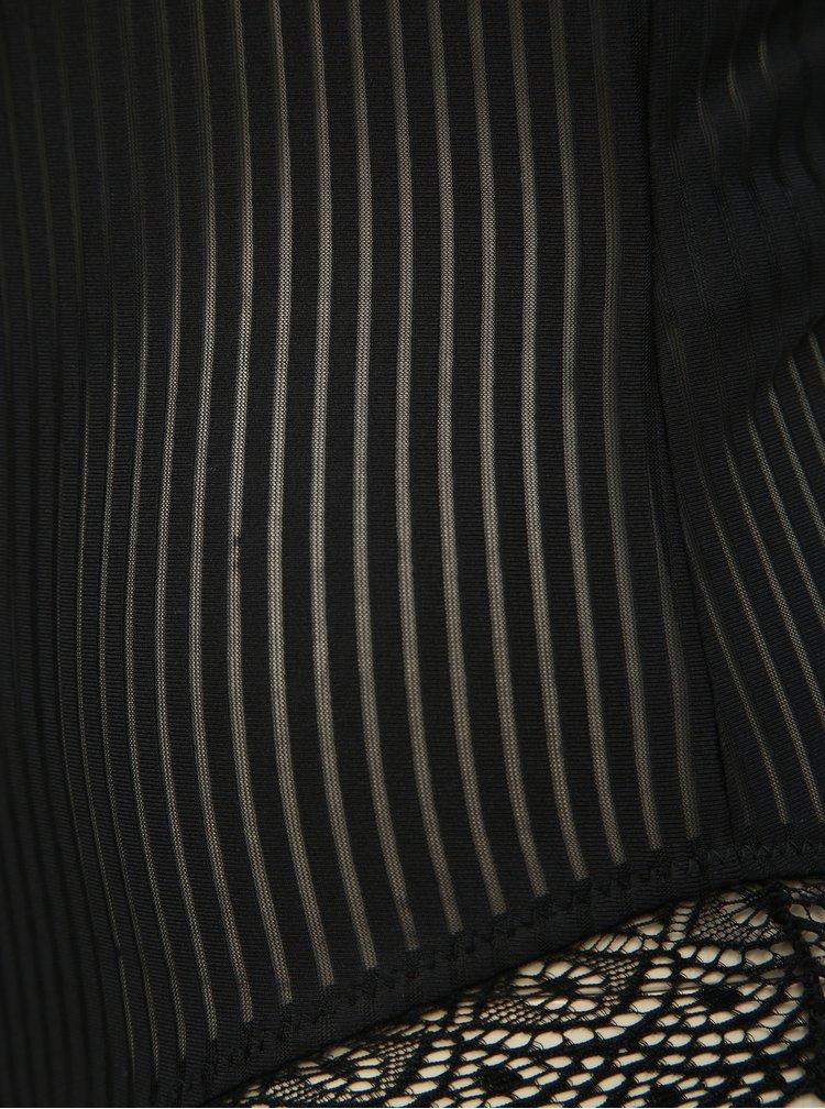 Body negru in dungi VILA Calinda
