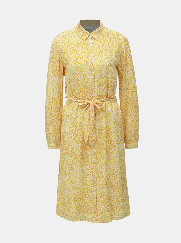 Žluté vzorované košilové šaty VILA Osaly