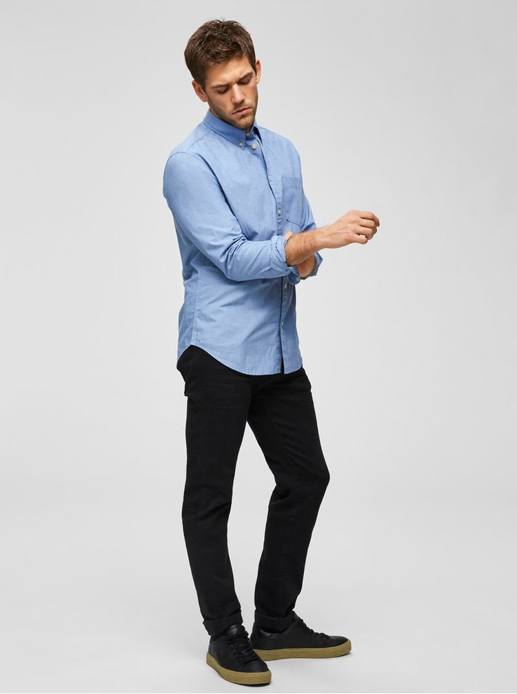 Modrá regular fit košeľa Selected Homme Reglandon