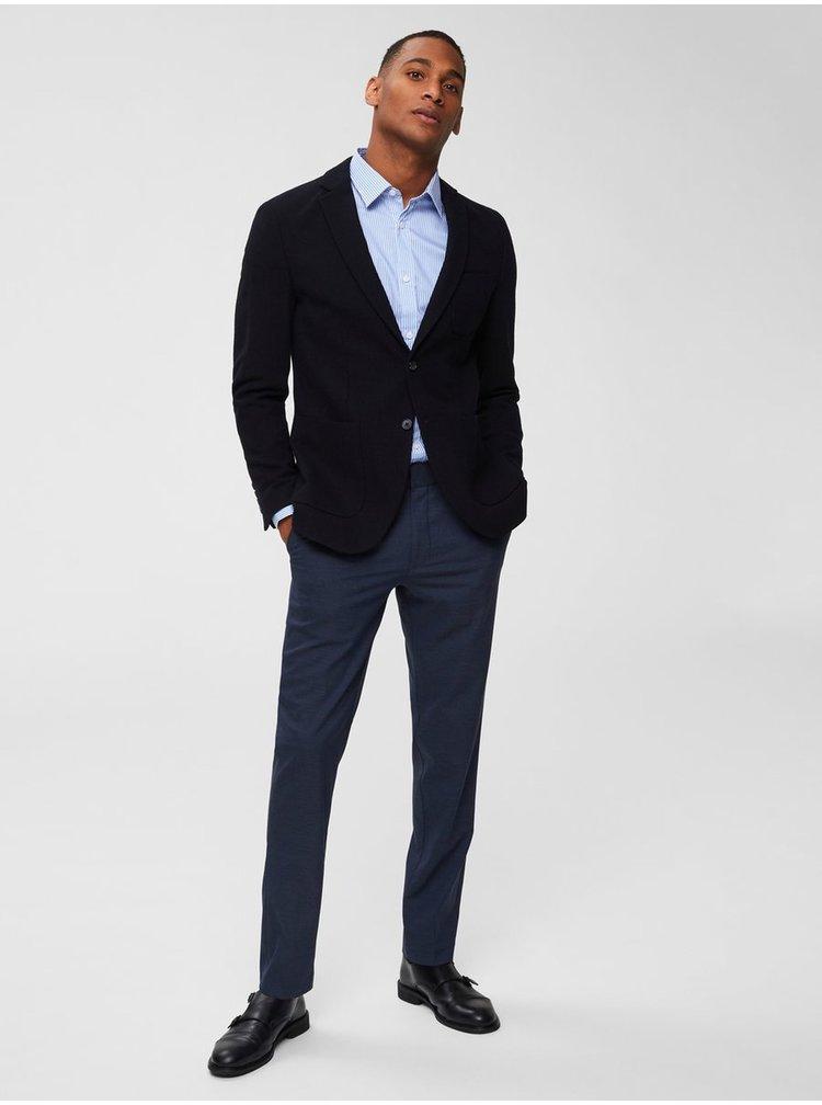Bílo-modrá pruhovaná slim fit košile Selected Homme Slimpen