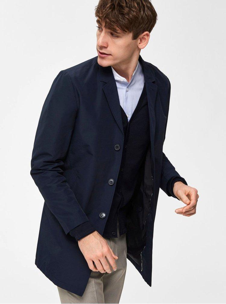 Tmavomodrý tenký kabát Selected Homme Steffen