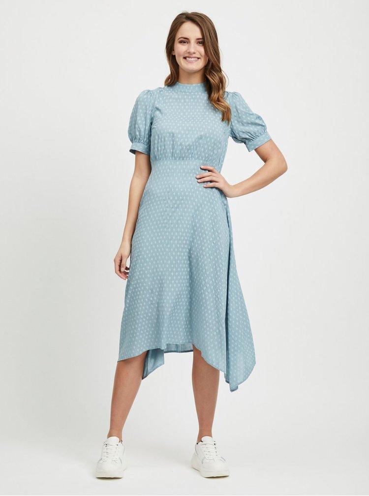 Rochie midi albastru deschis cu model VILA Diam