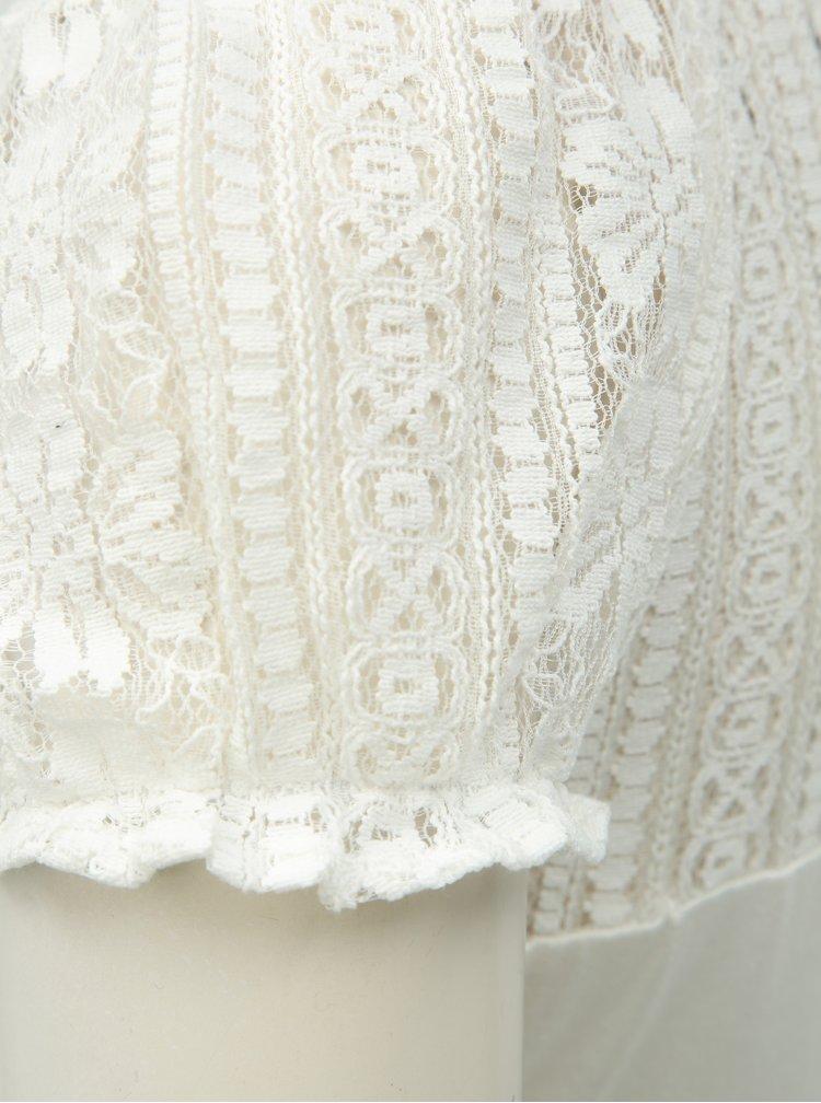 Biela čipkovaná blúzka Dorothy Perkins