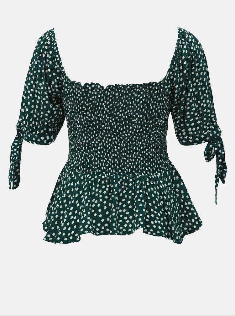 Zelená puntíkovaná halenka Dorothy Perkins