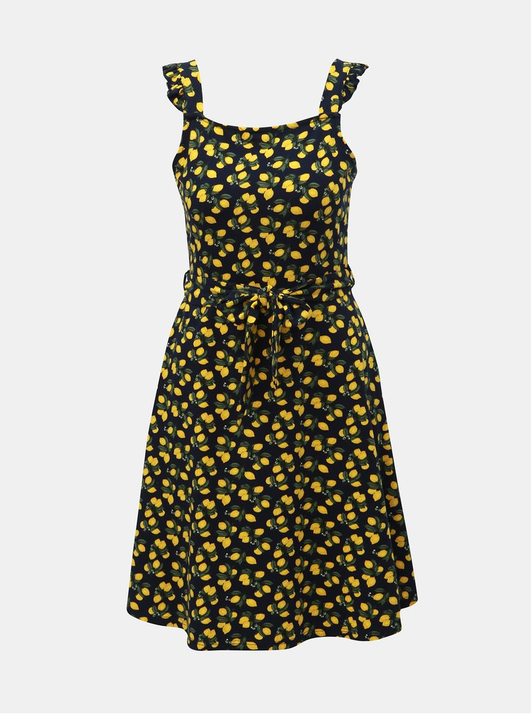 Tmavě modré šaty s motivem citrónů Dorothy Perkins
