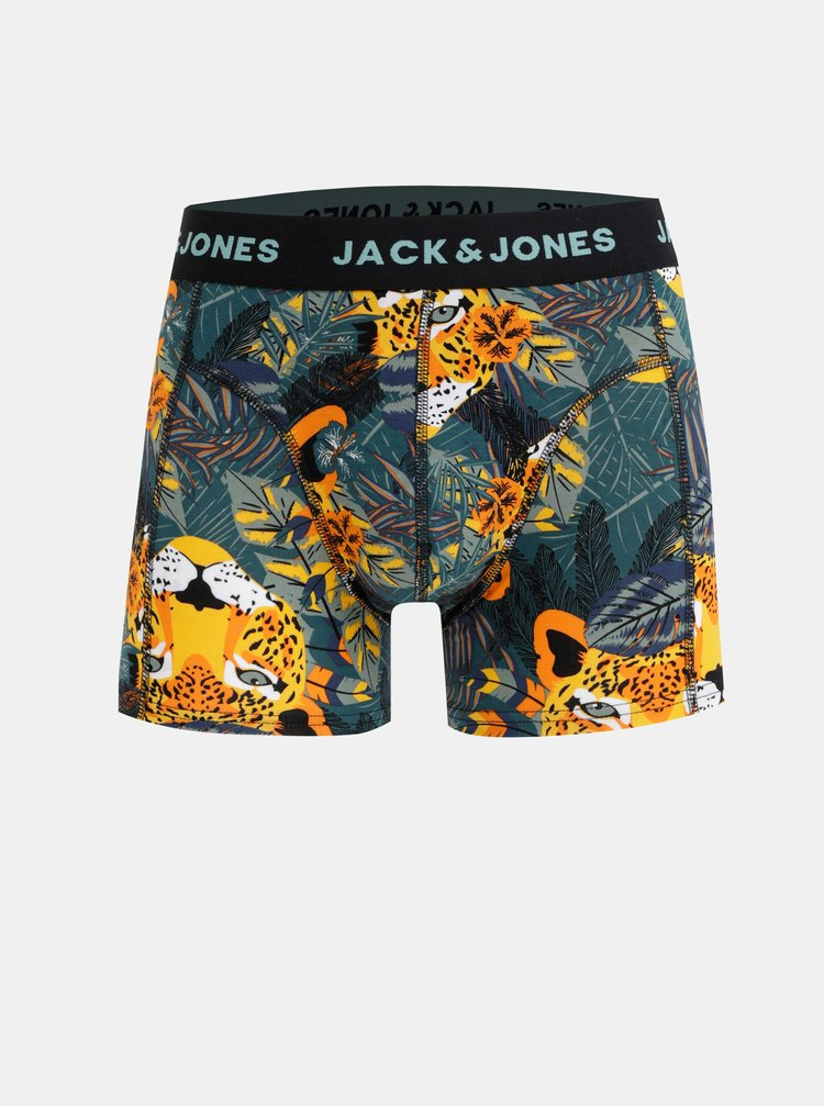 Set de 3 boxeri alb si negru cu model Jack & Jones Animals