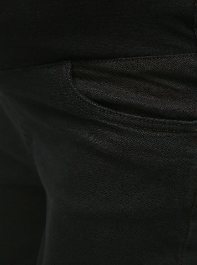 Čierne rifľové tehotenské kraťasy Dorothy Perkins Maternity