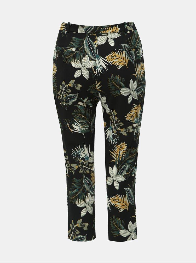 Pantaloni verde-negru florali Dorothy Perkins Curve