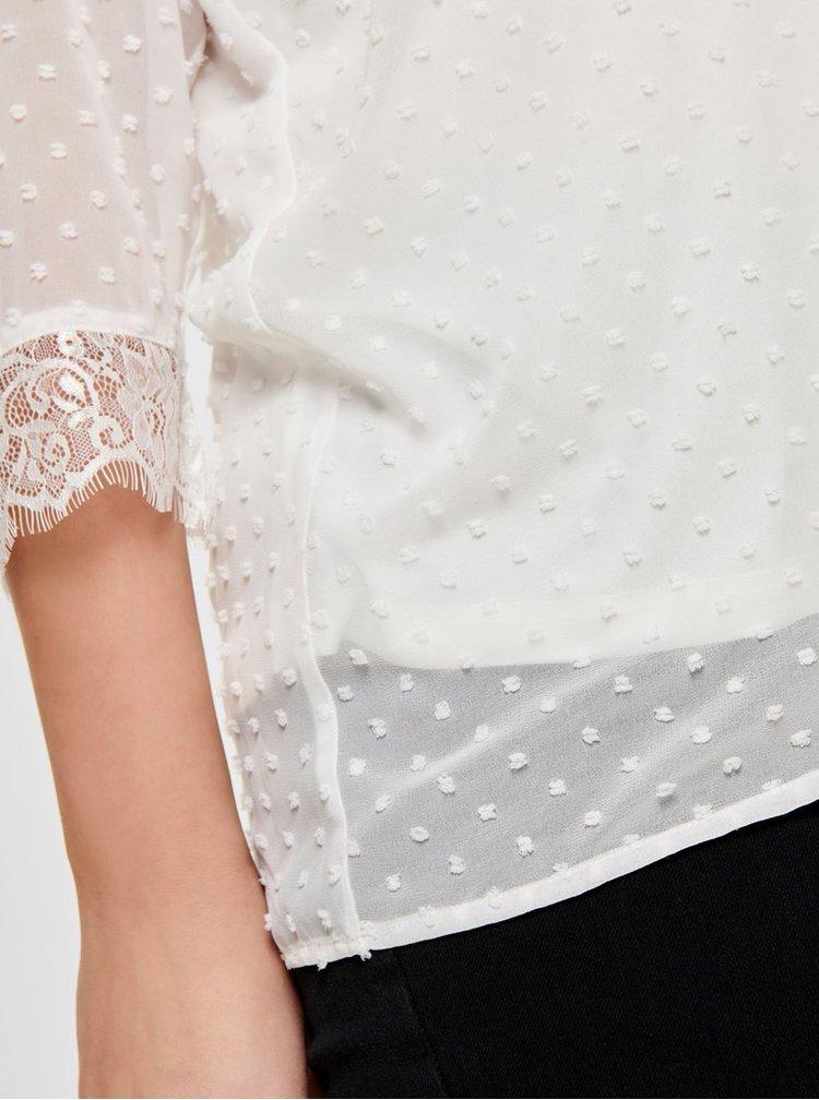 Bluza alba cu detalii din dantela ONLY CARMAKOMA Dream