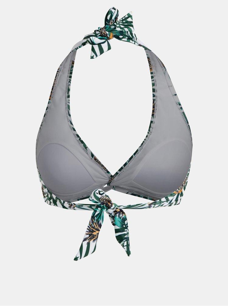 Zeleno–biely vzorovaný vrchný diel plaviek Dorothy Perkins