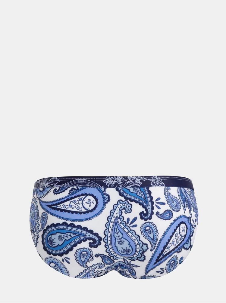 Bílo-modrý vzorovaný spodní díl plavek Dorothy Perkins