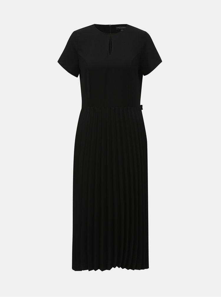 Rochie plisata neagra cu decupaj Dorothy Perkins
