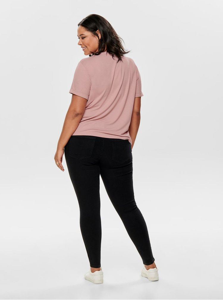 Růžové basic tričko ONLY CARMAKOMA Carcama