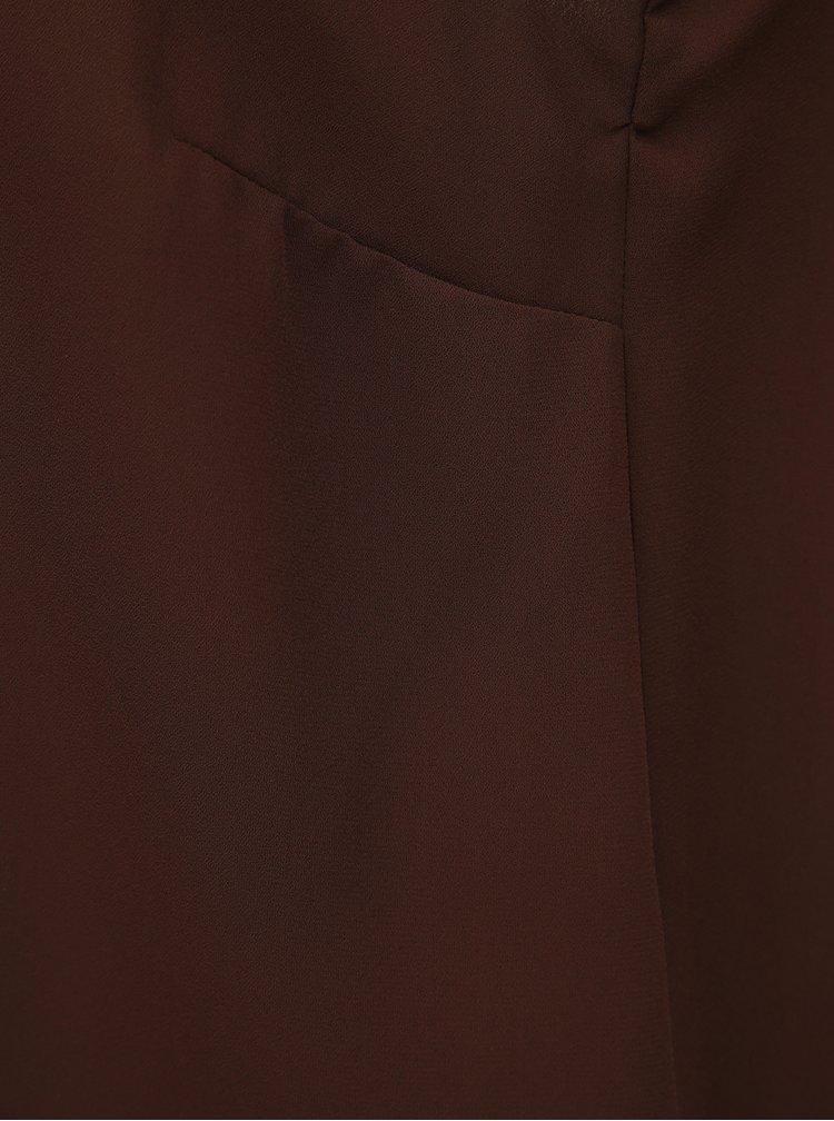 Tmavě hnědý top s průstřihy Dorothy Perkins