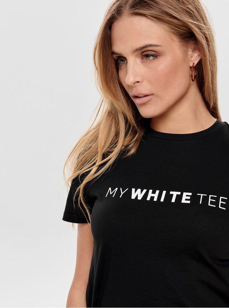 Čierne tričko s potlačou ONLY Charlie