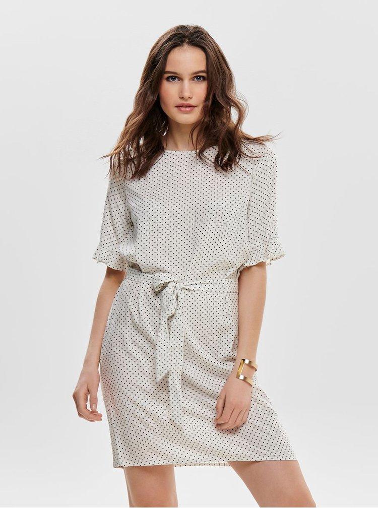 Biele bodkované šaty Jacqueline de Yong Iggy