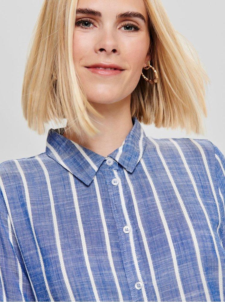Modrá pruhovaná košile Jacqueline de Yong Janine