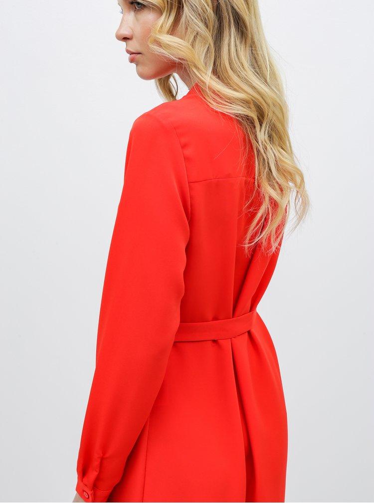 Červené košilové šaty VERO MODA Camila
