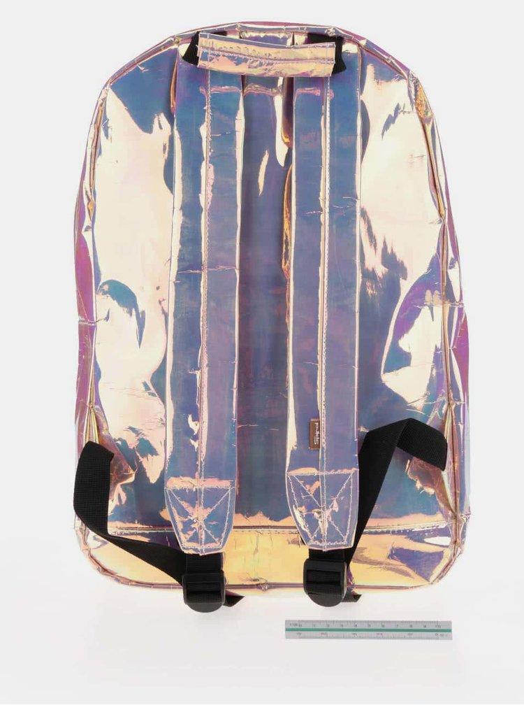 Rucsac roz Spiral Holographic 18 l cu aspect lucios pentru femei