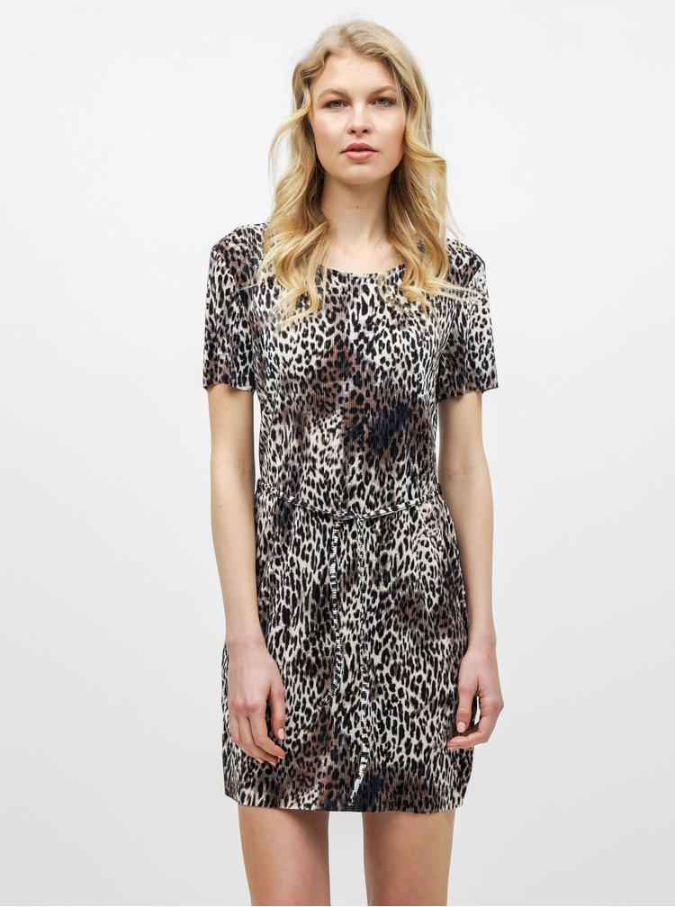Rochie maro cu motiv leopard Miss Selfridge