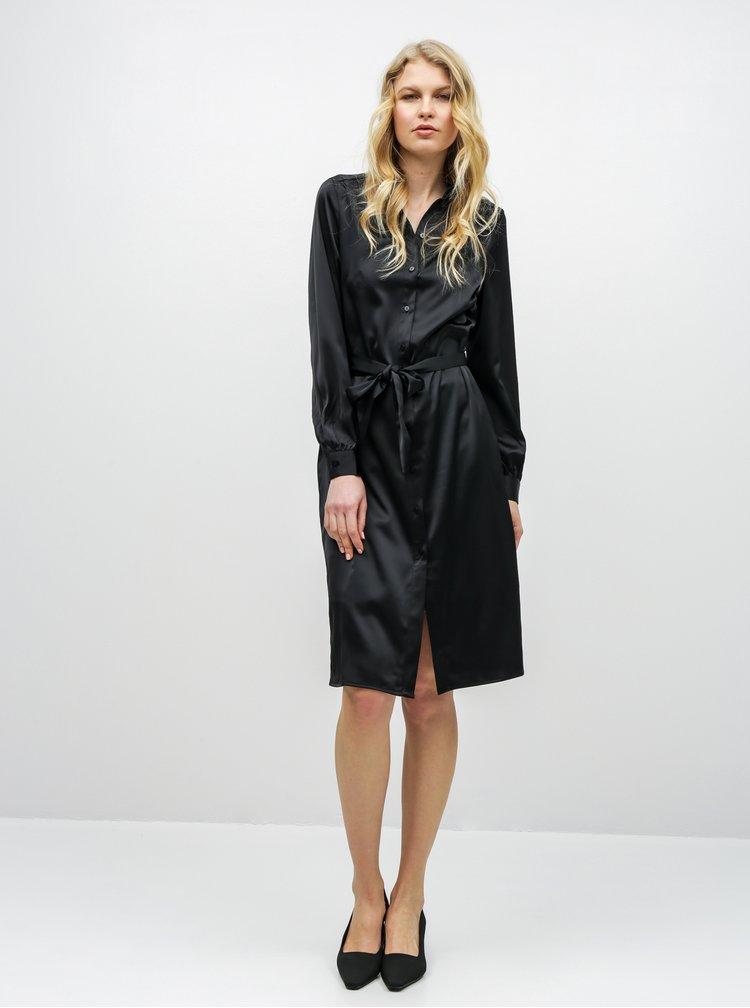 Čierne košeľové šaty AWARE by VERO MODA Ginger