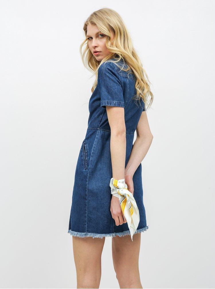 Rochie tip camasa albastra din denim Noisy May Ariel