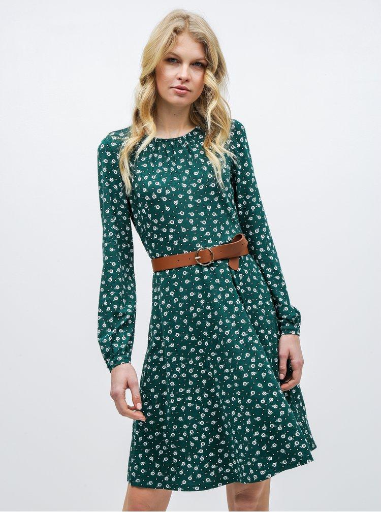 Zelené květované šaty Dorothy Perkins