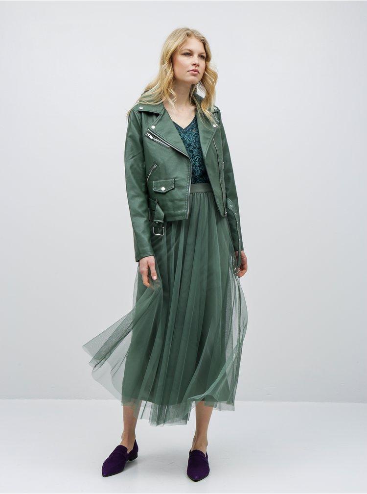 Tmavě zelené krajkové šaty ONLY Amaze