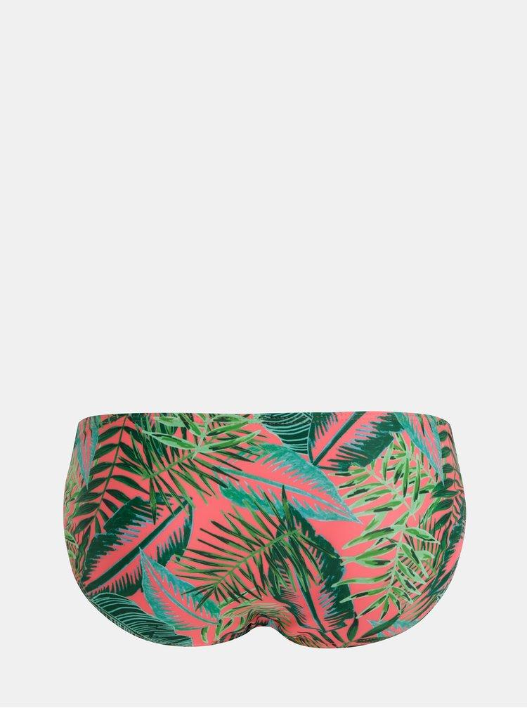 Růžovo-zelený vzorovaný spodní díl plavek Dorothy Perkins