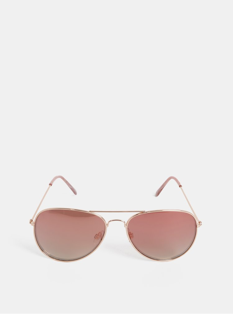 Ochelari de soare roz-auriu Dorothy Perkins