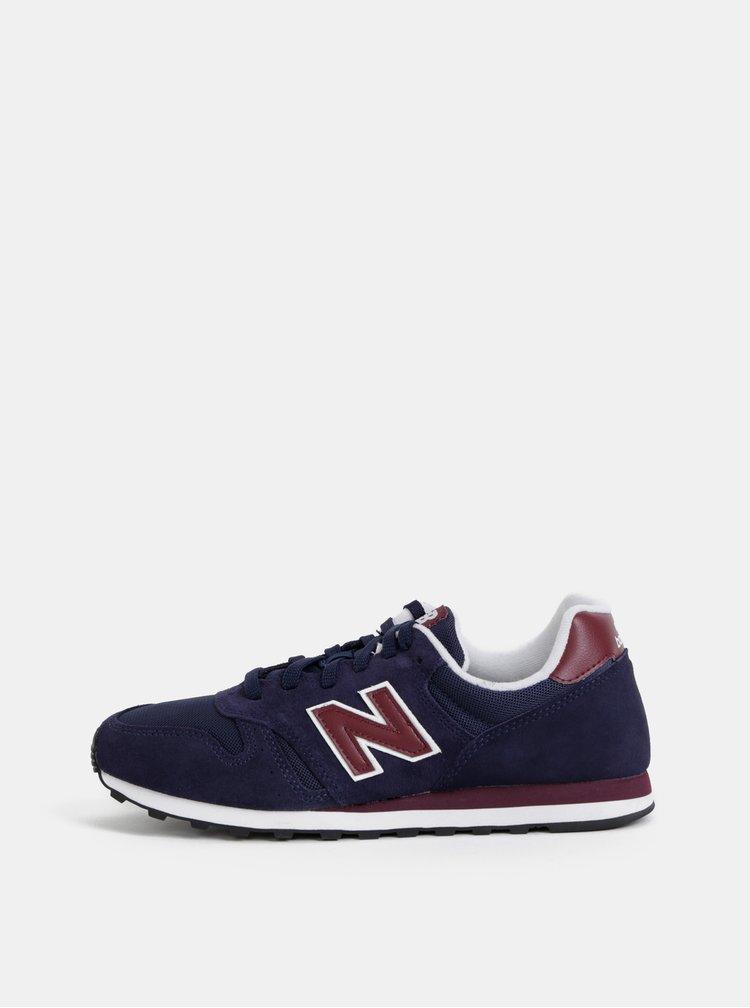 Tmavě modré pánské semišové tenisky New Balance 373