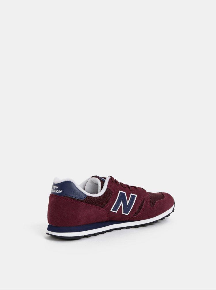 Pantofi sport barbatesti bordo din piele intoarsa New Balance 373