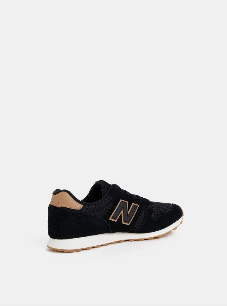 Černé pánské semišové tenisky New Balance 373