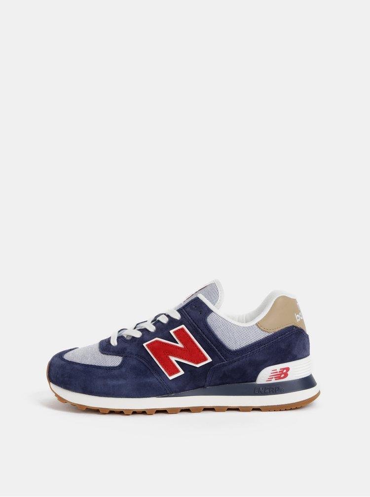 Pantofi sport barbatesti albastru inchis din piele intoarsa New Balance 574