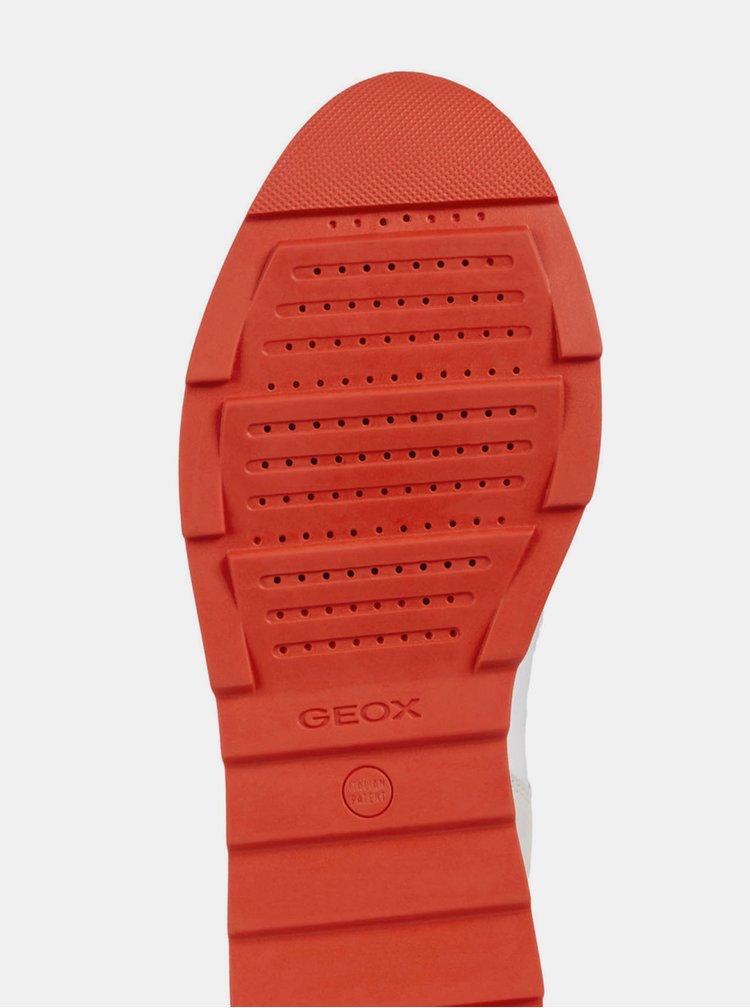 Krémové dámske tenisky so semišovými detailmi Geox Gendry