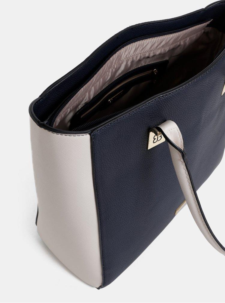 Krémovo-modrá kabelka Bessie London