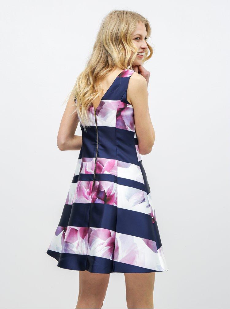 Rochie roz-albastru florala Dorothy Perkins