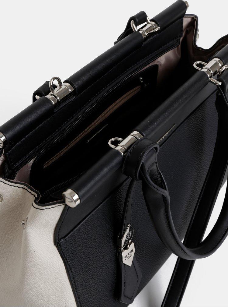 Krémovo-černá kabelka Bessie London
