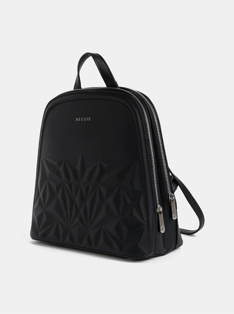 Černý vzorovaný batoh Bessie London