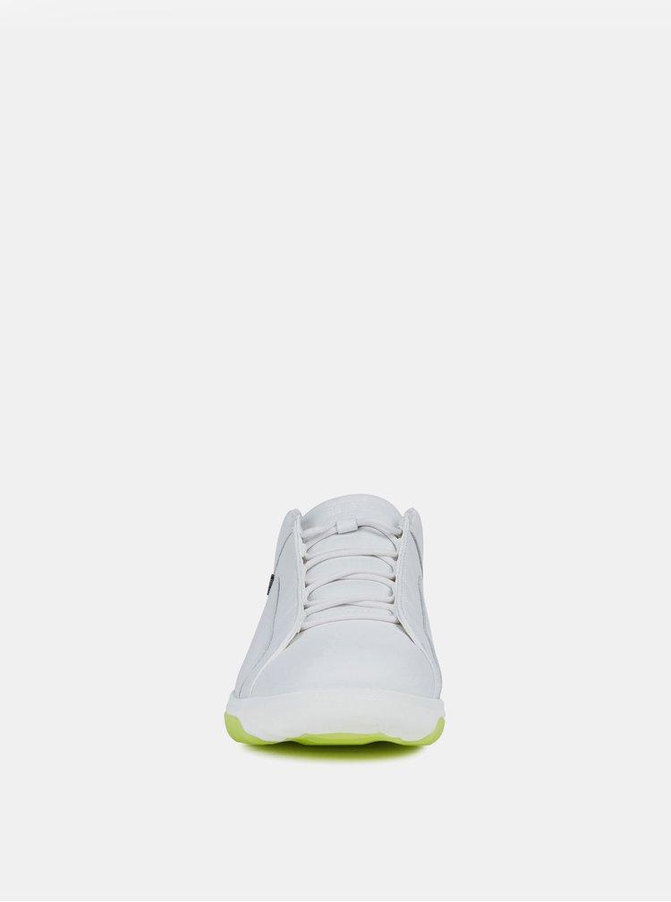 Bílé pánské kožené tenisky Geox Nexside